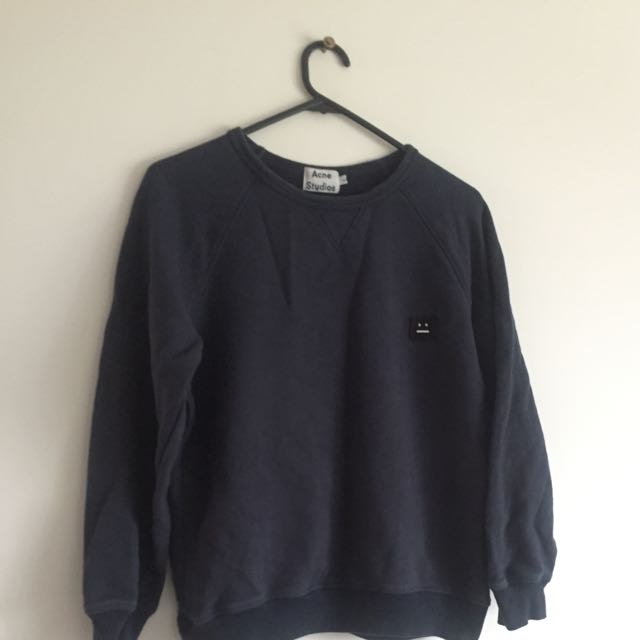 Acne Sweater Navy Size L