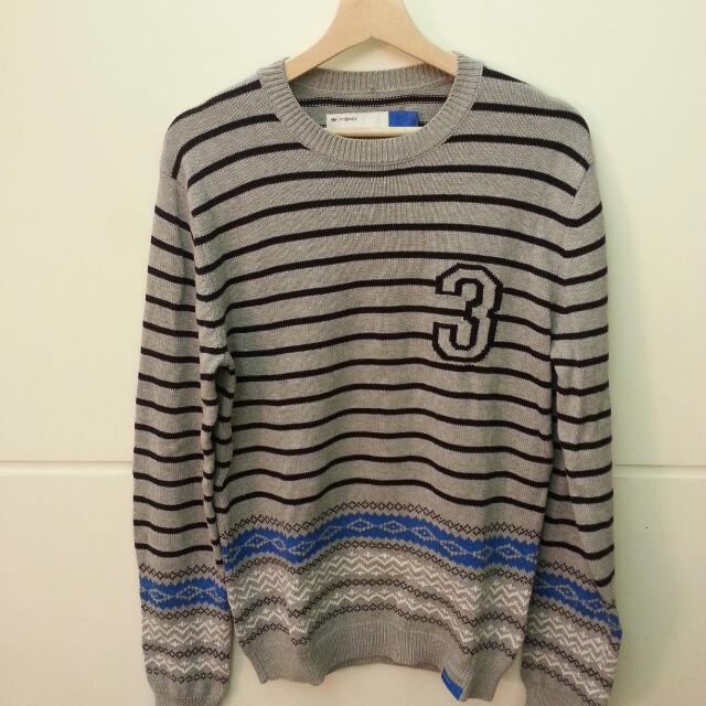 Adidas original 針織毛衣 近全新  陳亦迅著用款 保證正品