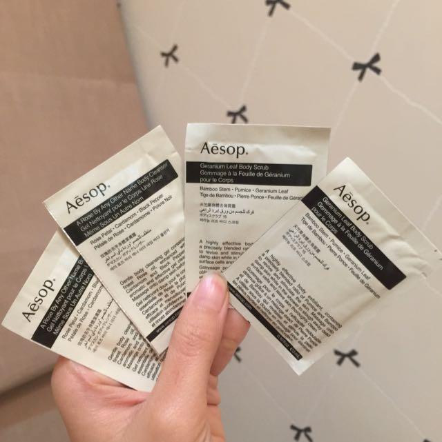 AESOP Body Cleanser + Body Scrub Samples