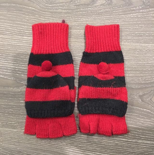 A&F 全新條紋針織手套 美國購入 只有三雙賣完不在