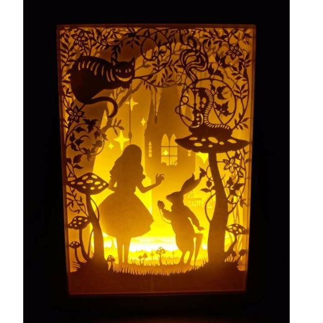 Alice in Wonderland Handmade Paper Craft 3D Night Light