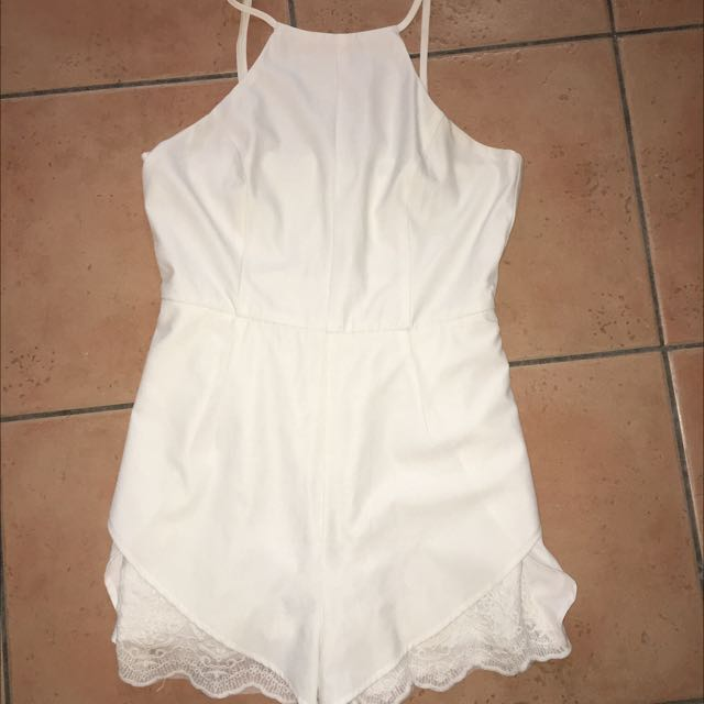 Ally Fashion White Playsuit