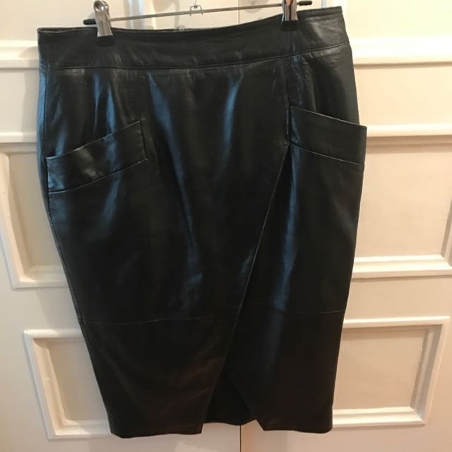 ASOS Leather Split Skirt