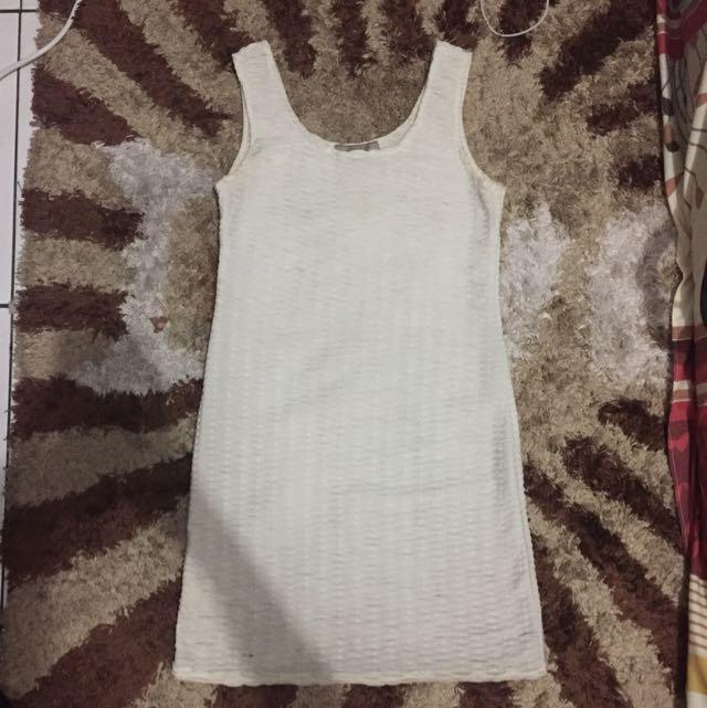 Avenue Basic White Bodycon Dress