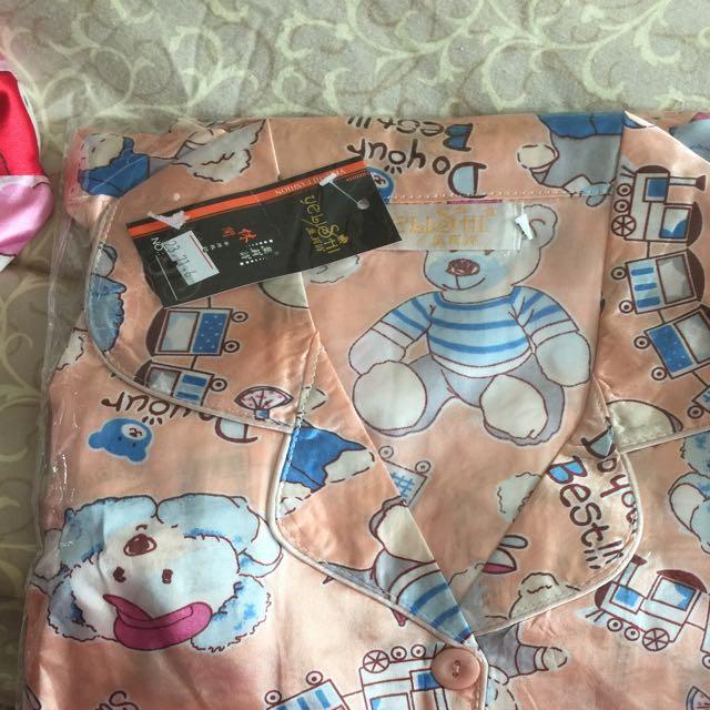 Baju Tidur Bear Peach