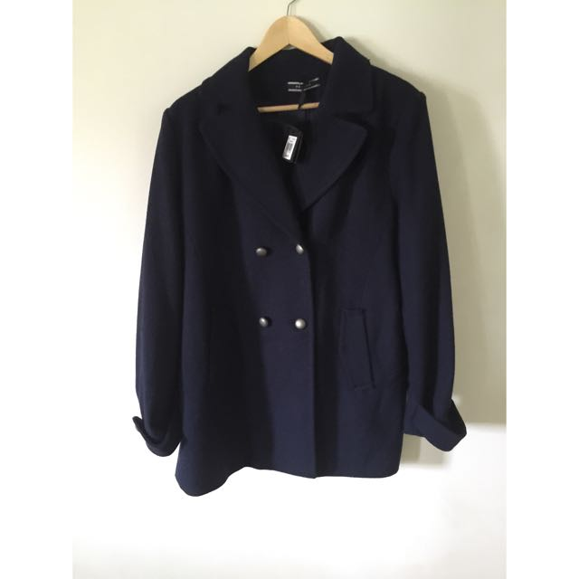BASQUE NAVY BLUE FITTED WINTER COAT BNWT