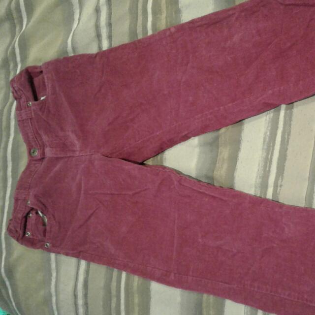 Beat Girls Size10 Corduroy Jeans,