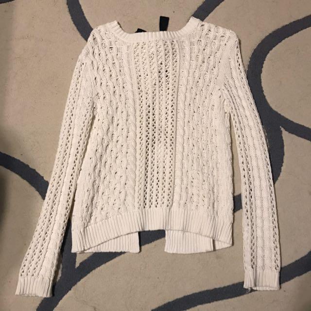 Bethany Mota Open-Back Knit Sweater