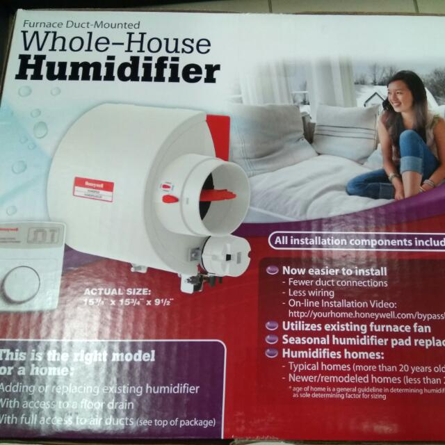 Brand NEW Honeywell HE240 Whole House Bypass Humidifier /w receipt