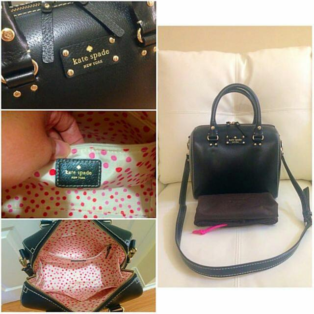 Authentic Kate Spade Wellesley Alessa in Black Mint Condition wore it a couple of times Includes dust bag