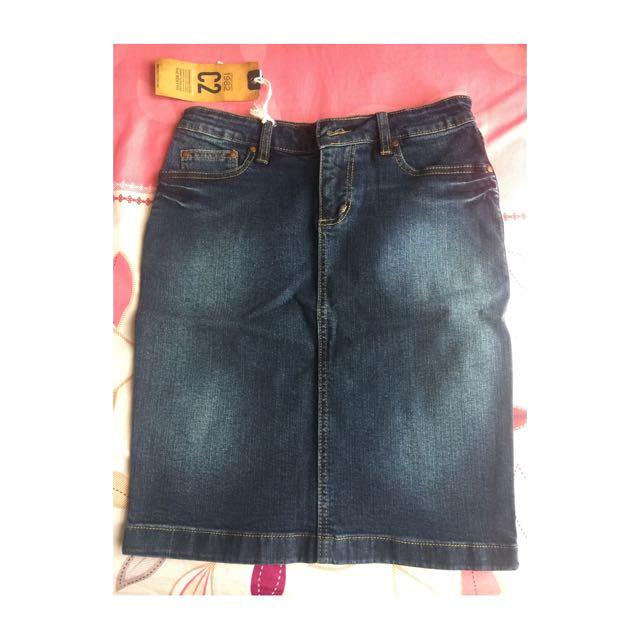C2 Basic Denim Skirt