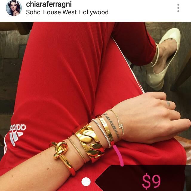 Cartier bangle replica (silver&gold)