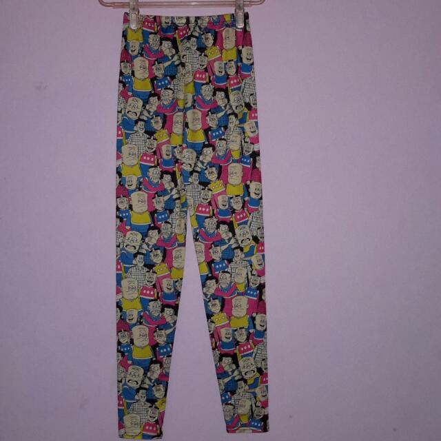 Celana Ketat / Legging Motif Kartun, Cute Bingits 😍😍 No Defect, Bahan Adem N Strech...