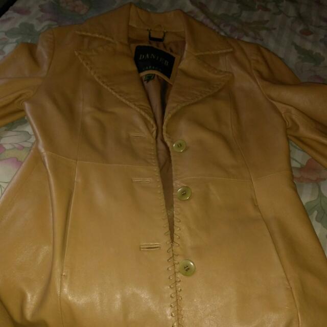 Danielle Cremish  Brown Leather Jacket