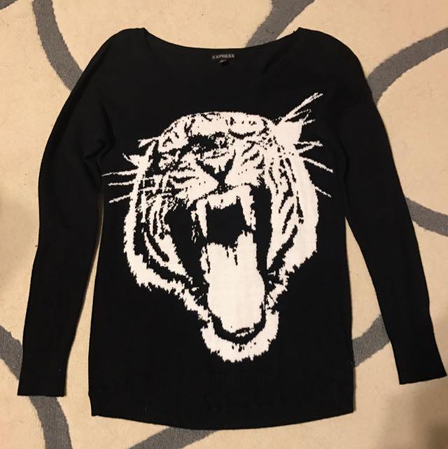 Express Knit Tiger Sweater