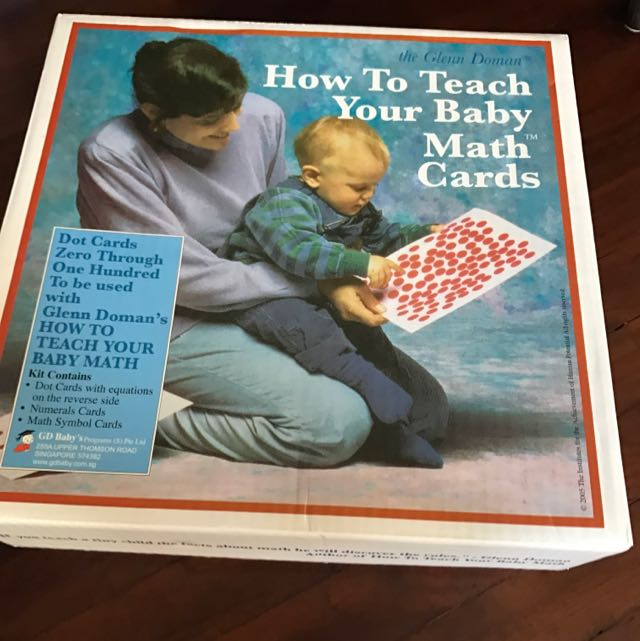 Glenn doman how to teach your baby math cards textbooks on carousell photo photo photo fandeluxe Gallery