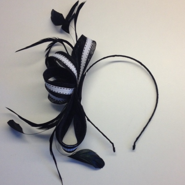 Gregory Ladner B&W Fascinator
