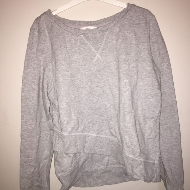 Grey Sweatshirt Crossed