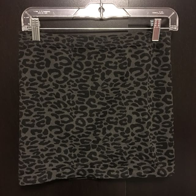 Grey/black Animal Print Skirt (S/M)