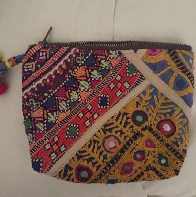 Gypsy River Fabric Clutch
