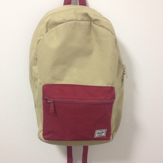 Herschel Settlement Backpack in Burgundy/Khaki