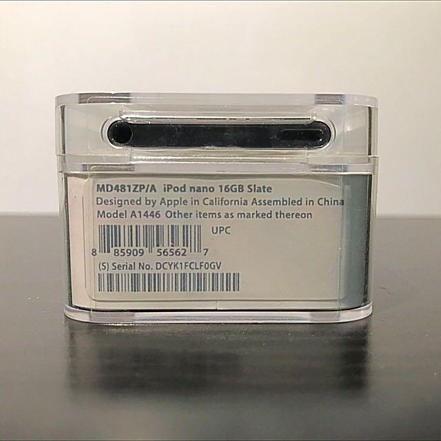 iPod Nano 7th Gen 16GB Slate
