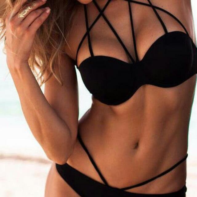 ISO LOOKING FOR a Black Strappy Bikini Similar To Photo