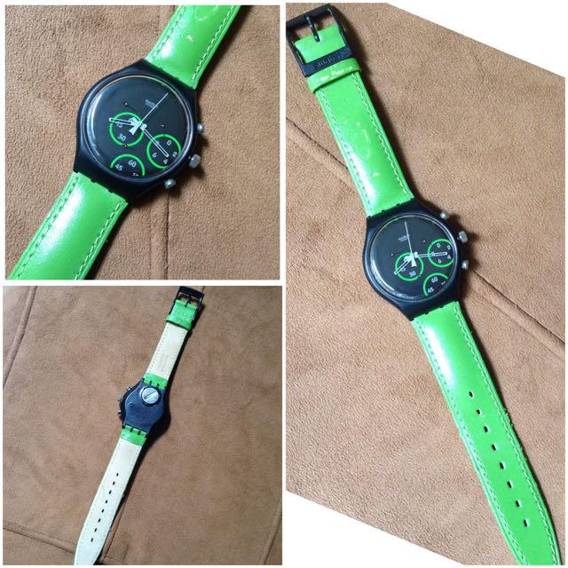 Jam Tangan Swatch Excentric-SCB117 Original 100%