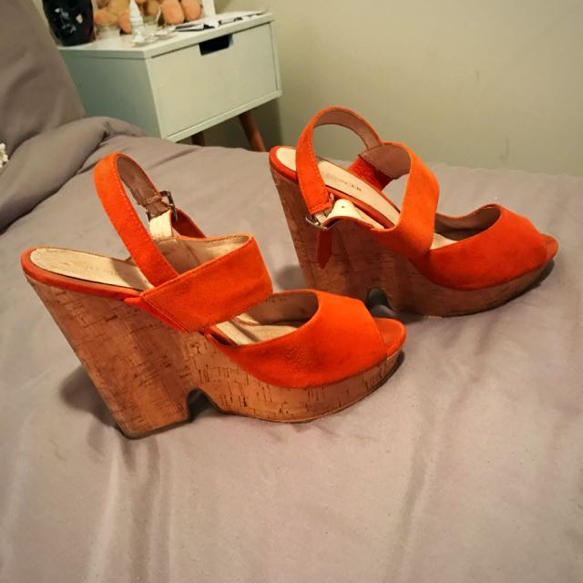 Jo mercer Suede Cork Wedge