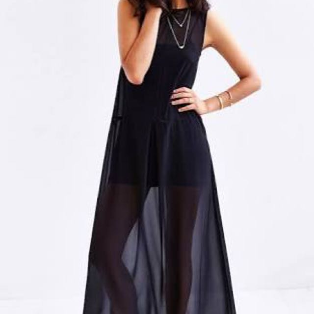 Keepsake The Label - Unsung - Sheer Black Maxi Dress