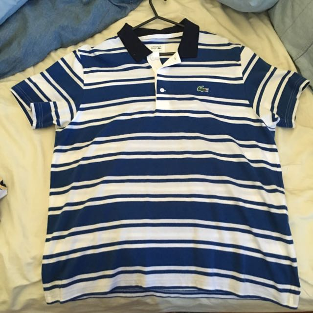 Lacoste Blue Stripped Polo