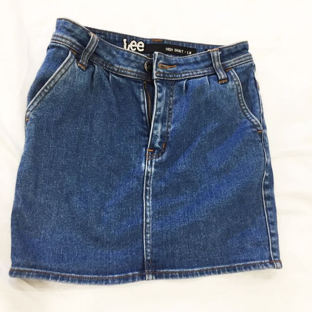LEE highrise Denim Skirt