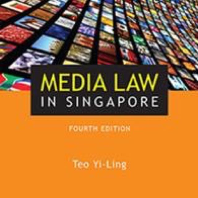 Media Law in Singapore by Teo Yi Ling