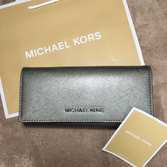 Michael kors 銀灰色長夾 美國🇺🇸購入