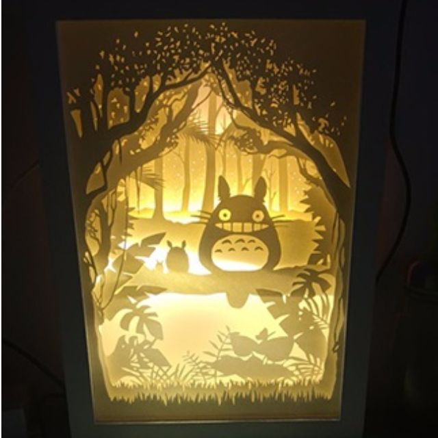 My Neighbor Totoro Handmade Paper Craft 3D Night Light