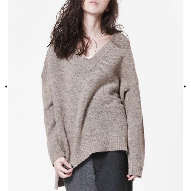 nude連線駝色針織毛衣