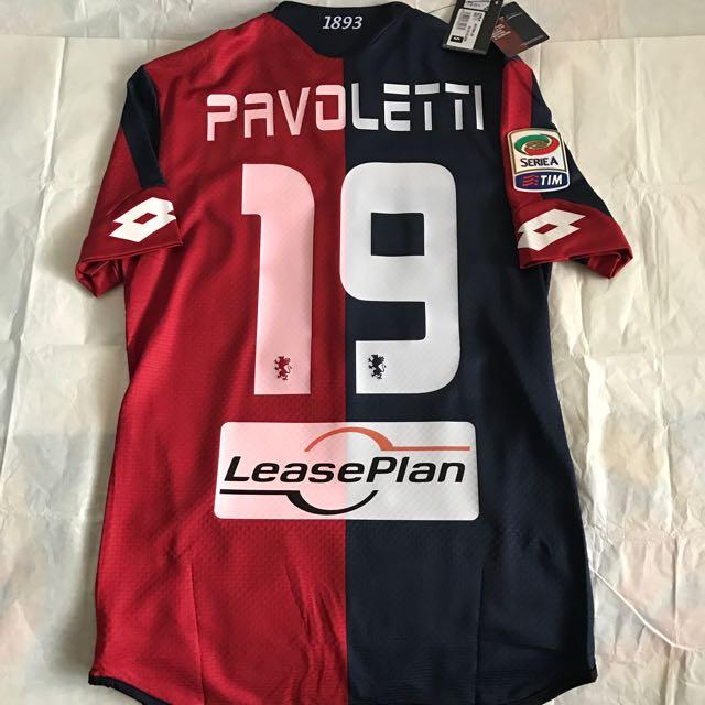 0ad80187e4b Official Authentic LOTTO Genoa CFC Home 2015-2016 Jersey PAVOLETTI  19 Shirt  Serie A Italian Football