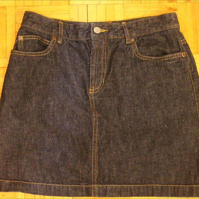 Old Navy Blue Shirt Denim Skirt