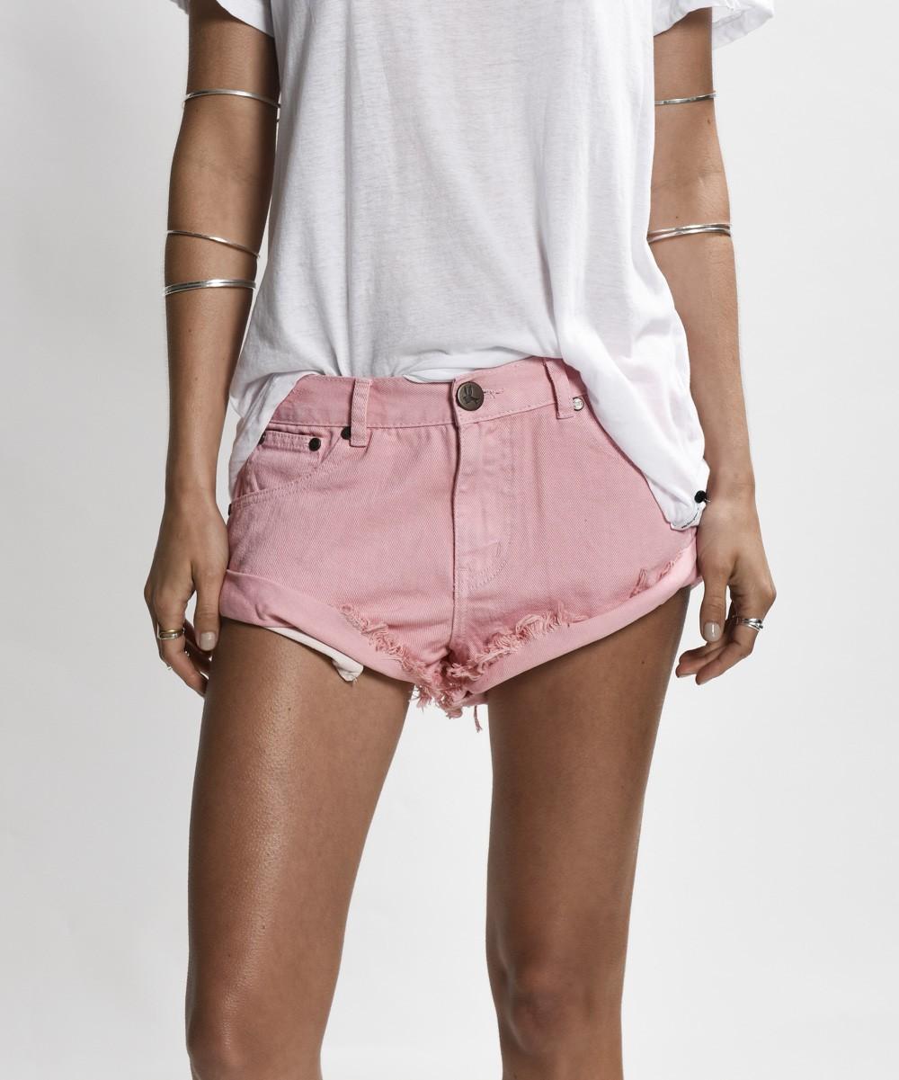 OneTeaspoon Bandits Short - Pink