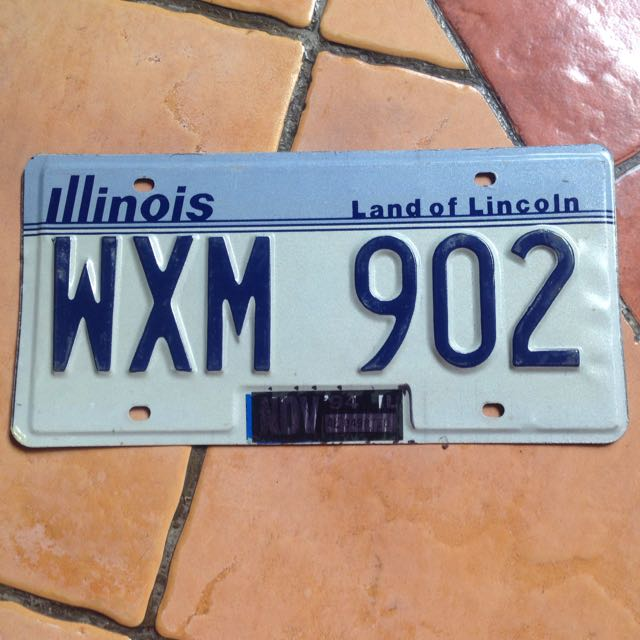 Plat Nomer USA Original (Illinois)