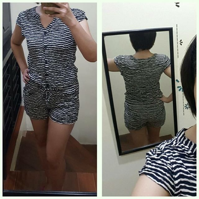 Preloved Romper Fits Small To Medium