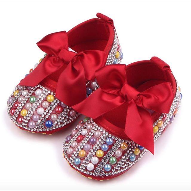 Prewalker Baby Shoes Sincia Red