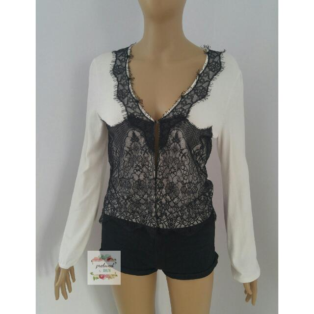 Queen Kerry - White Lacey Cardigan
