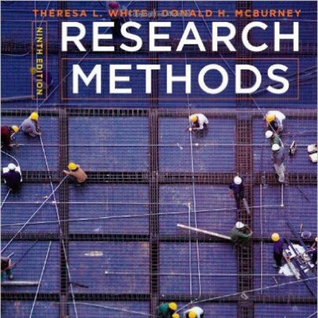 Research Methods by White, Mcburney