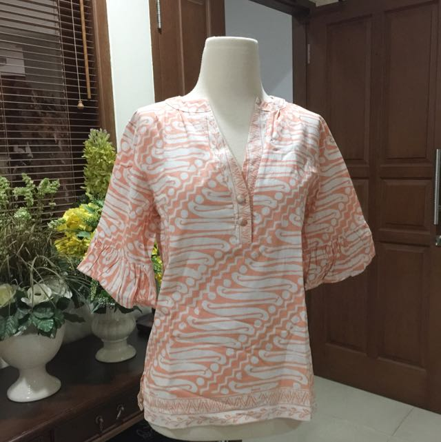 Salmon Batik Blouse