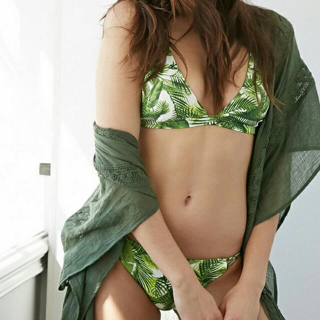 Sexy Palm Tree Two Piece Swimsuit