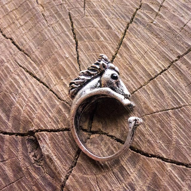 Silver Horse Adjustable Animal Wrap Ring
