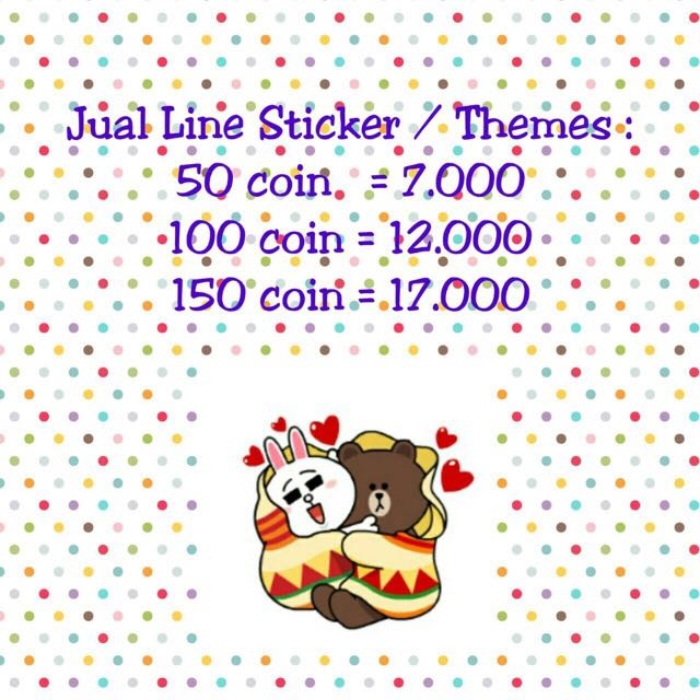 Stiker Line And Themes Line