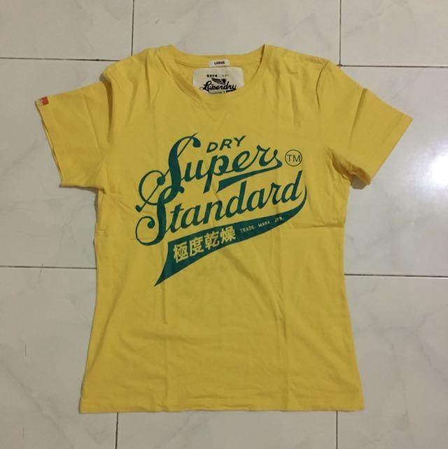 Superdry T Shirt Yellow