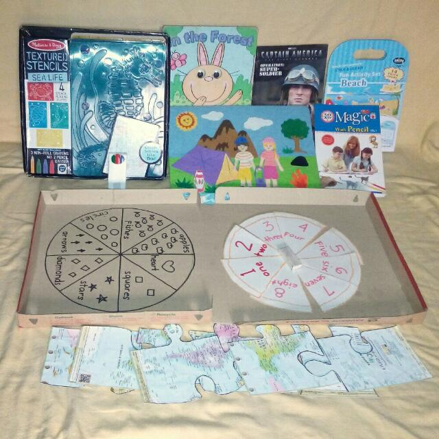 TAKE ALL Educational Books Toys Children Kids Stencil Play Set Puzzle